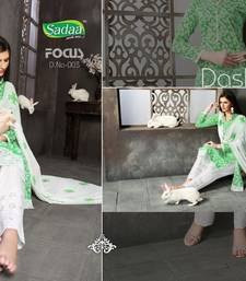 Buy green cotton salwar suit readymade-suit online