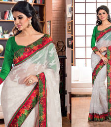 Buy 2 States By Vishal Off White Soft Net Saree  From 2 States Movie 32614 other-actress-saree online