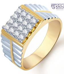 Buy Sukkhi Gold and Rhodium Plated CZ Ring for Men(111GRK830) gifts-for-him online