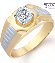 Buy Sukkhi Gold and Rhodium Plated Solitaire CZ Ring for Men(125GRK700) gifts-for-him online