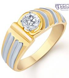 Buy Sukkhi Gold and Rhodium Plated Solitaire CZ Ring for Men(127GRK590) gifts-for-him online