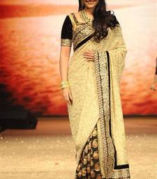 Buy White embroidered net saree with blouse sonakshi-sinha-saree online