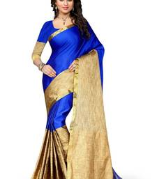 Buy Blue woven art silk sarees saree with blouse art-silk-saree online