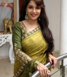 Buy Green embroidered bhagalpuri saree with blouse madhuri-dixit-saree online