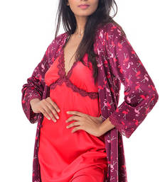 Buy Multicolor cotton sets sleepwear nightwear online