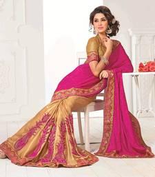Buy Pink Color crepe  Saree SNLS170 crepe-saree online
