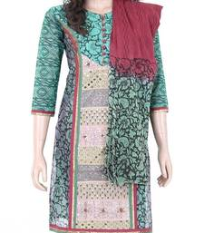 Buy Ethnic designer embroidered cotton salwar kameez size S 901209 salwars-and-churidar online