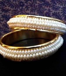 Buy Pair of Pearl Bangles Festive Indian Kadas o30 bangles-and-bracelet online