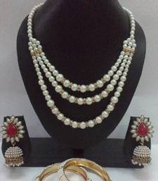 Buy Pearl & Only Pearl Necklace set jewellery-combo online