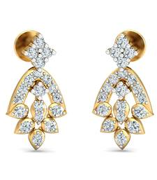Buy 0.34ct diamond danglers drops 18kt gold earrings gemstone-earring online