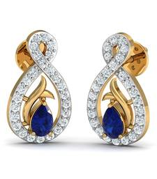 Buy 0.21ct diamond studs 18kt gold earrings gemstone-earring online