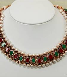 Buy OVAL MULTI COLOR PEARL necklace-set online