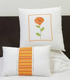 Buy Cotton Decorative Cushion Set with Floral Print embroidery and fillers. gifts-for-mom online