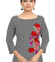 Buy multicolor crepe printed stitched kurti ethnic-kurti online