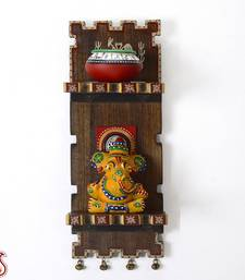 Buy Painted Wooden Wall Décor with Ganesh Figurine gifts-for-mom online