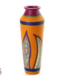 Buy Handcrafted Worli painted Terracotta Vase gifts-for-mom online