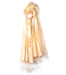 Buy Favola Beige Shaded Horizontal Strip Design Stole stole-and-dupatta online