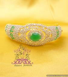 Buy Diamond Look Emerald Green Bracelet bangles-and-bracelet online