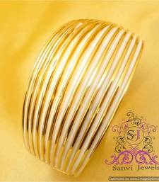 Buy Beautiful Gold & White Openable Fashion Bracelet Bracelet online