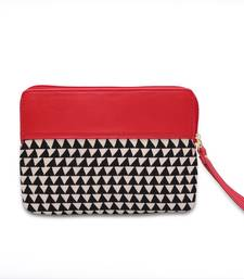 Buy RED BLACK AND WHITE POUCH TO HOLD LITTLE MORE . wallet online