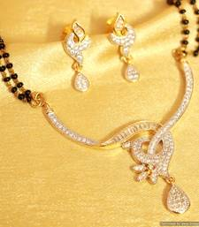 Buy Diamond Look Fine American Diamond Mangalsutra mangalsutra online