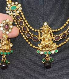 Buy temple jewelry laxmi devi neck set Necklace online