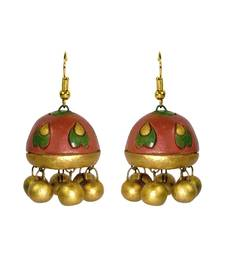 Buy Handmade Terracotta Jhumki Earring terracotta-jewelry online