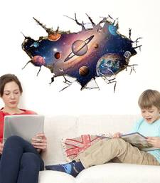 Buy 3D Visual space planet' Wall Sticker (60 cm X 90 cm) wall-decal online