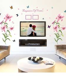 Buy Creative Pink Lily' Wall Sticker (60 cm X 90 cm) wall-decal online