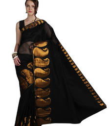 Buy Pavecha's Banarasi Chettinad Cotton Saree - 556 Black Copper MK905 cotton-saree online