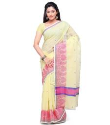 Buy Yellow embroidered silk saree with blouse kota-silk-saree online