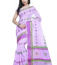 Buy Purple Cotton Handloom Traditional Saree kota-silk-saree online