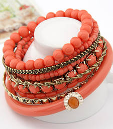 Buy Coral Ocean Beads Multilayer Bangles Set(CFB0062) bangles-and-bracelet online