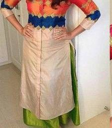 Buy Designer multi color embroidery dress matirials  punjabi-lehenga online