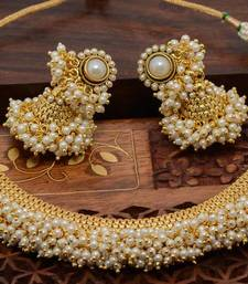 Buy White pearl necklace-sets necklace-set online