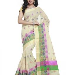 Buy Chiku embroidered kota silk saree with blouse kota-silk-saree online