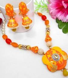 Buy Meenakari Ethnic Neck Ear Set 8 Necklace online
