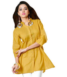 Buy Hypnotexyellow Cotton Kurti Chori1C kurtas-and-kurti online