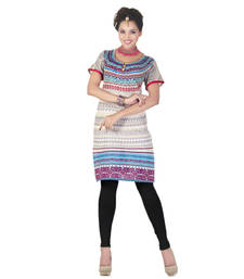 Buy Hypnotex Cream Cotton Kurti Art2059A kurtas-and-kurti online