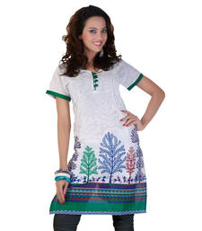 Buy Hypnotex Off White Cotton Kurti Art2055A kurtas-and-kurti online