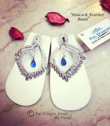 Buy Peacock Feather Baali danglers-drop online