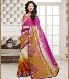 Buy Strollay Saree with Un-Stitched Blouse chiffon-saree online
