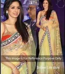 Buy Bollywood Actress Sridevi Lemon Beauty Sari sridevi-saree online
