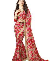 Buy Multicolor embroidered art silk saree with blouse art-silk-saree online