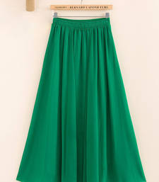 Buy Green Designer Stylish Casual Wear Georgette Skirts skirt online