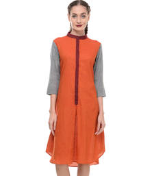 Buy Women's Designer Orange Mangalgiri Dress dress online