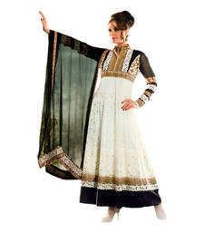 Buy Hypnotex Off White Georgette Dress Material Tulsi9109 dress-material online