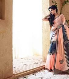 Buy Vishal Peach  Georgette Designer Sarees Holiday33204 bollywood-saree online