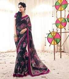 Buy Vishal Black Jute  Designer Sarees Holiday33212 bollywood-saree online