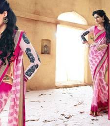 Buy Vishal Pink Georgette Designer Sarees Holiday33218 bollywood-saree online